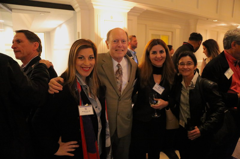 President Nicole Fram, David Savar, Nafiseh Hashemi, Kristin Nesburn