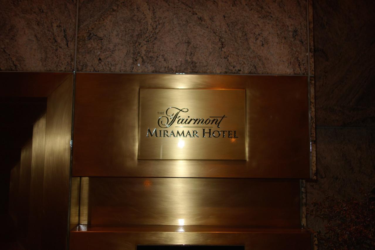 Venue:  The Fairmont Miramar Hotel in Santa Monica