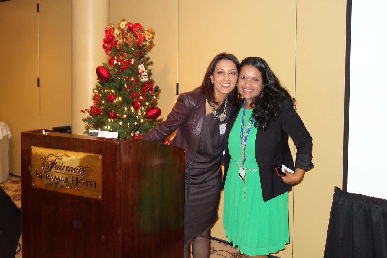 President Neda Shamie and Luxme Hariharan<br /> DSC02482