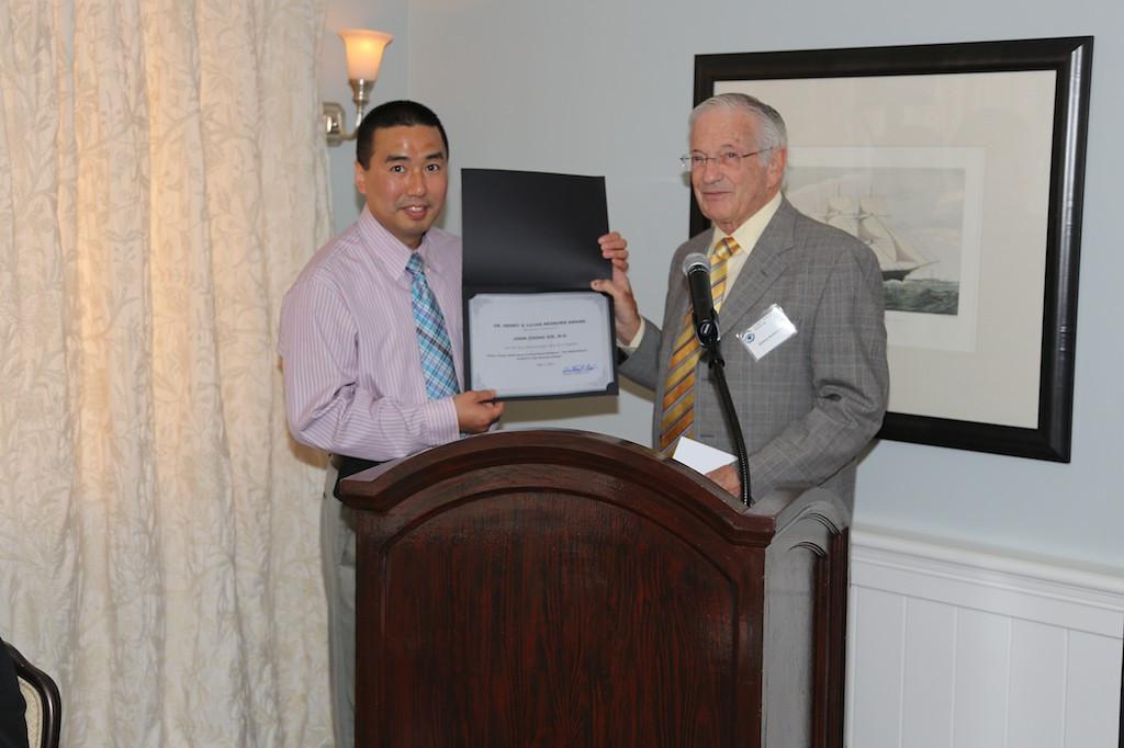 Nesburn Award winner John Zhong Xie and Tony Nesburn