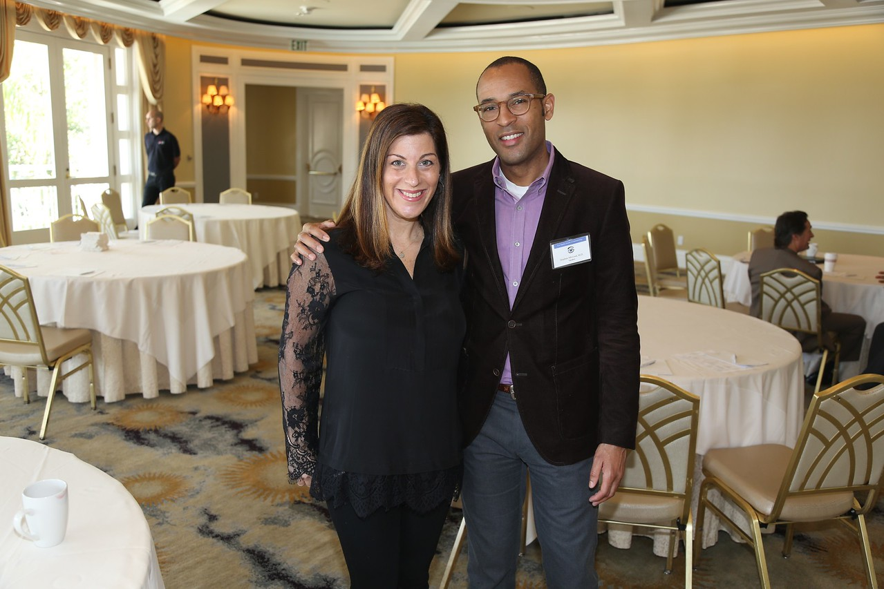 Nicole Fram and Guest Speaker Stephen McLeod, Chair, Dept of Ophthalmology at UCSF.  Topic:  Infectious Keratitis