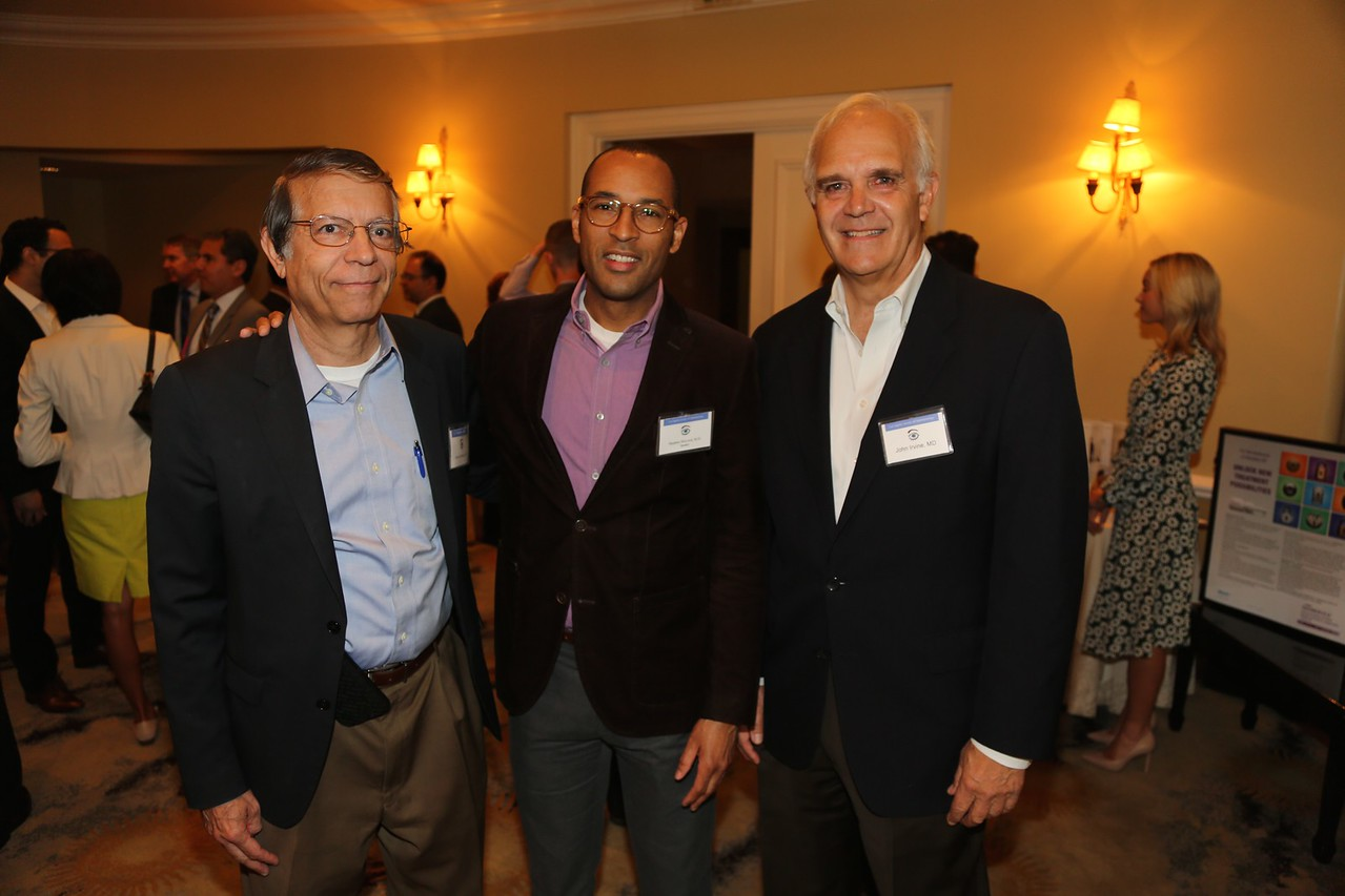 UCLA Chair Bart Mondino, UCSF Chair Stephen McLeod, John Irvine