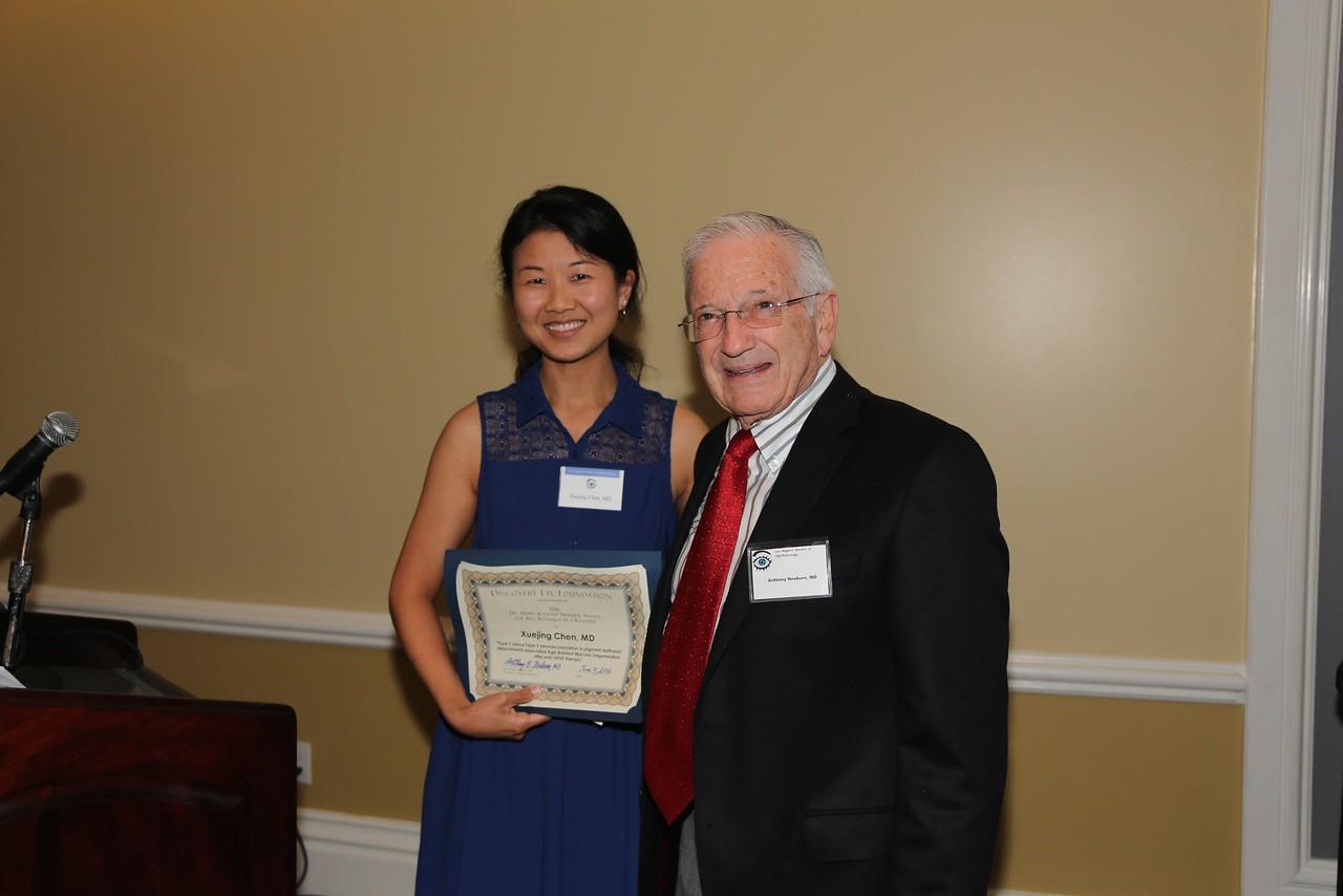 Co-Winner of Nesburn Prize:  Xuejing Chen with Tony Nesburn