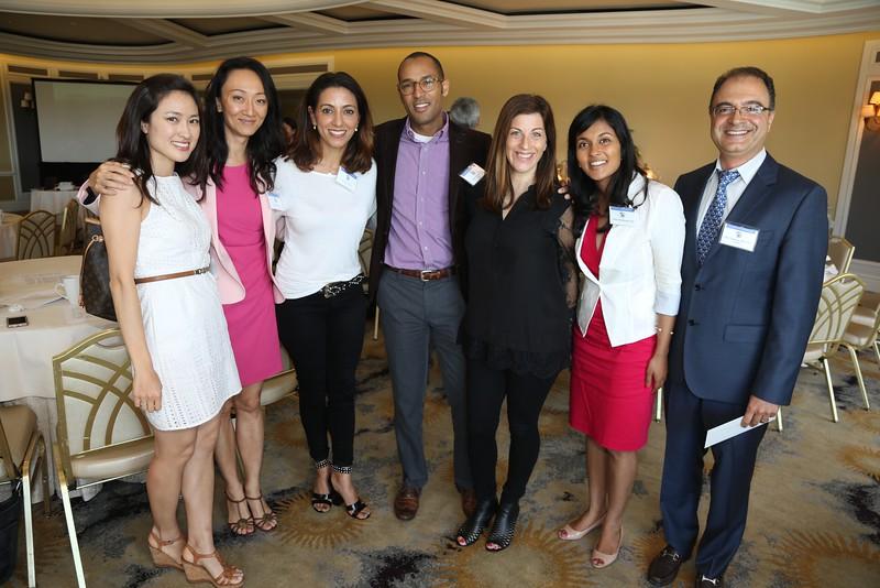 Unknown,  Sun Young Lee, Neda Shamie, Stephen McLeod, Nicole Fram, Lilangi Ediriwickrema, Society President Hajir Dadgostar