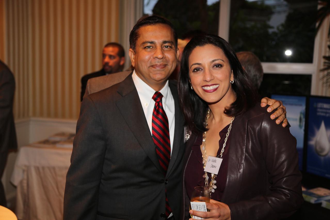 New USC Chairman Rohit Varma and Nada Shamie