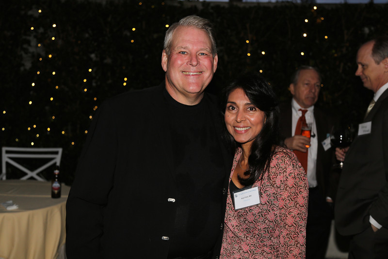 Guest speaker, Richard Lindstrom, and President Alpa Patel