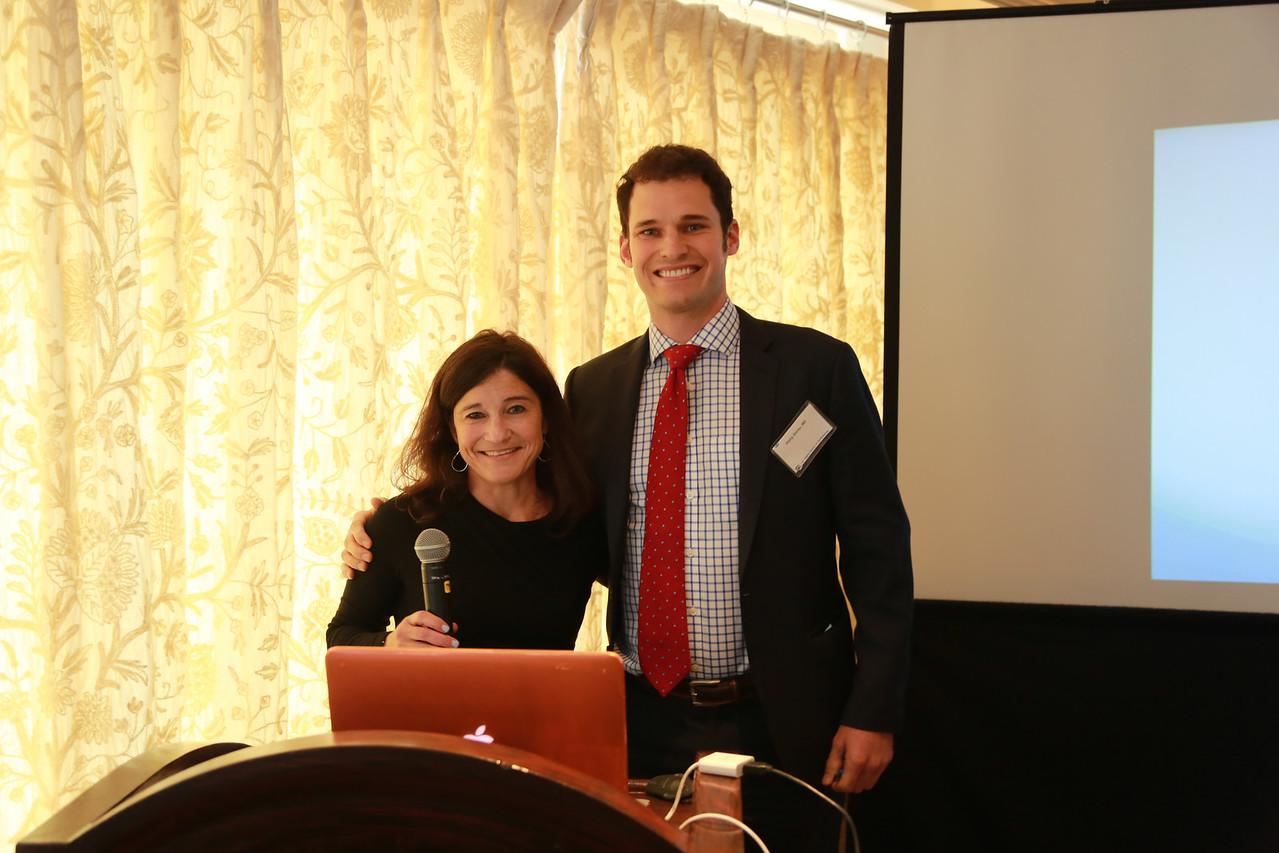 Kristin Nesburn presents Nesburn Research Award to Philip Storey<br /> 2015-05-30 at 10-35-03