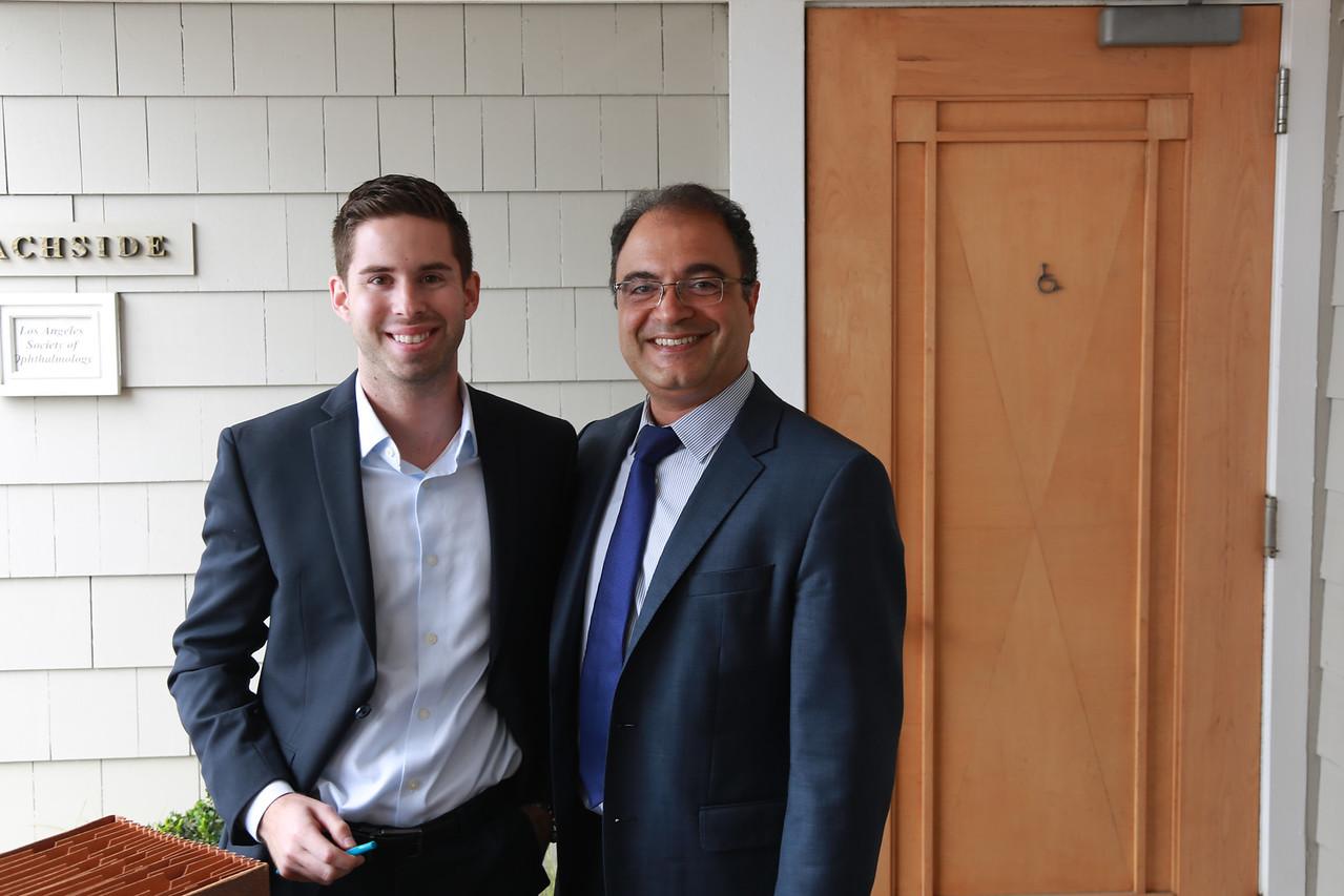 Society Administrator Justin Novakovich and Incoming President Hajir Dadgostar<br /> 2015-05-30 at 12-07-56