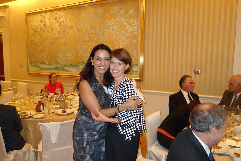 President Neda Shamie and Guest Speaker Julie Falardeau<br /> DSC02345