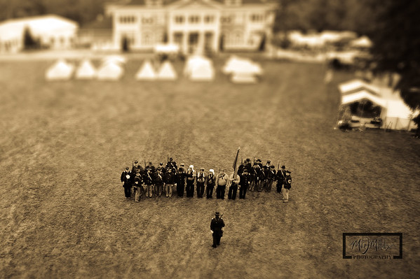 Tilt-Shift Civil War Days Sepia  © Copyright m2 Photography - Michael J. Mikkelson 2012. All Rights Reserved. Images can not be used without permission.