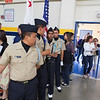 Hoang Leading the Milpitas High School Color Guard.