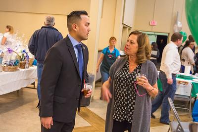Mayor Rich Tran & Vice Mayor Marsha Grilli @ the Crab Feed.