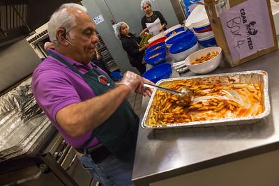 Tom Valore serving the Pasta.