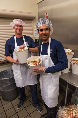Volunteers (L-> R): Erik Long and Chris Perez