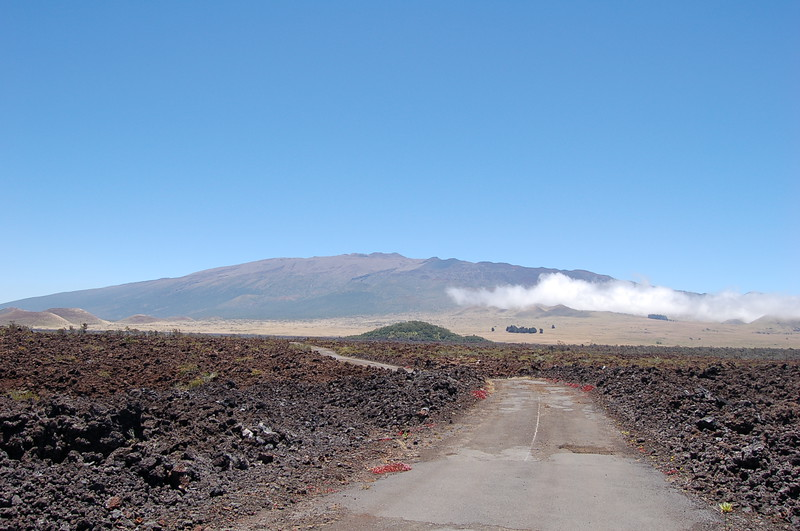 The view from partway up Mauna Loa in 2006
