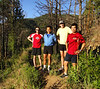 Bob, Koki, Mike, and Fabiano out for a morning run.