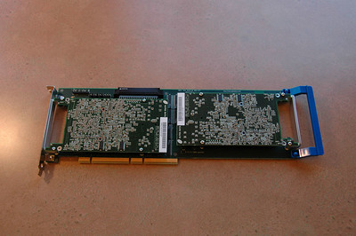 Alpha-Data PCI carrier with 4VLX100 and 4VSX55 PMCs installed.