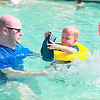Bart Laemens @ his son Korneel taking a dip @ the Village 1 Hidden Lake HOA pool. Escaping the Summer heat on Sunday.