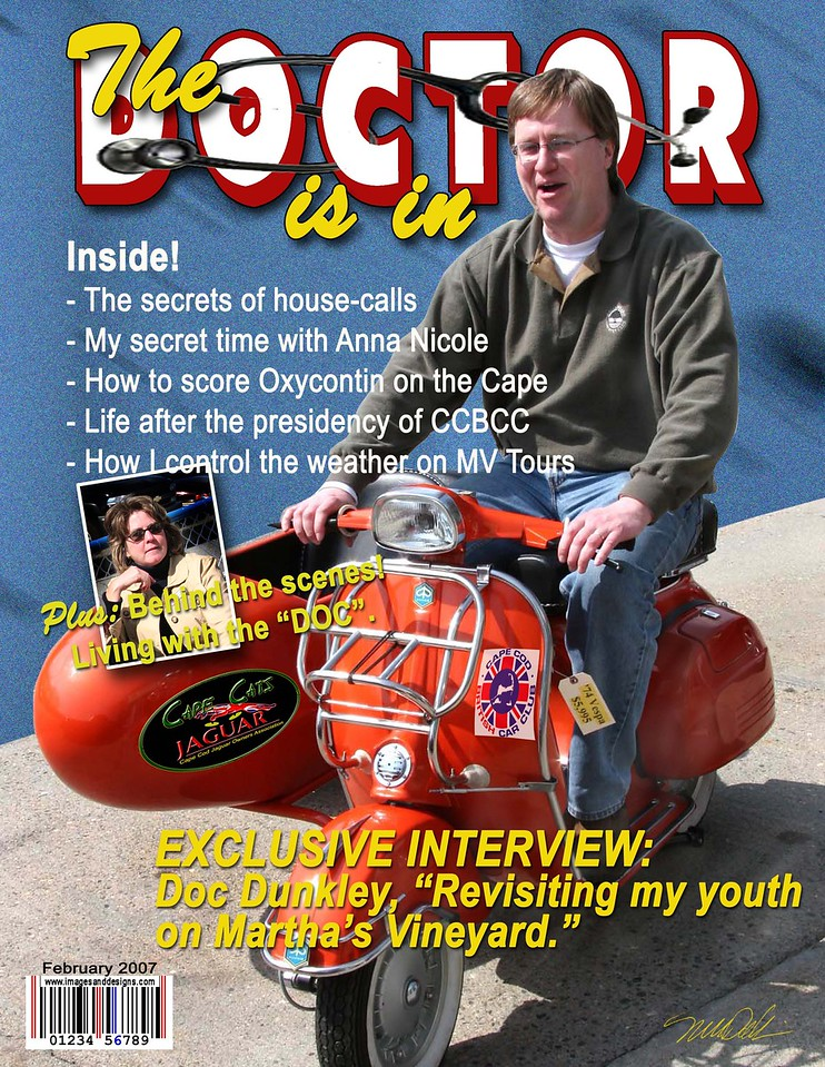 """Mock magazine Sample -- Special Order 81/2"""" x 11""""<br /> Makes great gifts, gags and awards!<br /> Designed with your supplied images<br /> Please contact me directly for pricing<br /> mdallaire1@comcast.net"""
