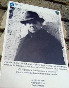 In the surrounding park, a commemoration of a French resistance leader