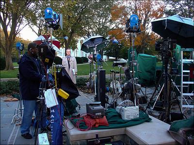 《白宫媒体外景台》