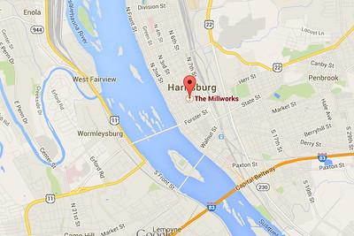 Millworks Map Harrisburg