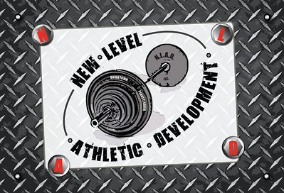 New Level Athletic Development is a start-up training facility that specializes in creating individual routines for specialized sports athletes.  Weights, metal, concrete and exercise were the inspirations. This is their postcard.
