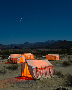 Glowing Tents, Terlingua Ghost Town.