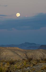 Moon Rise, Villa de la Mina, Terlingua, Texas.