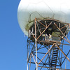The NOAA NEXRAD array, with the new transmit antenna being installed. There we are!