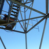 Antennas mounted on the tower
