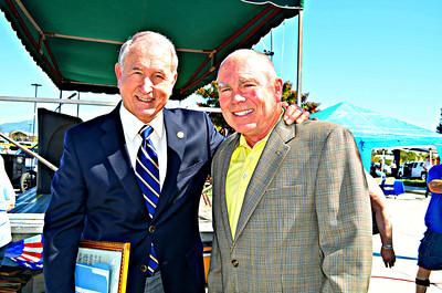 SB Mayor Pat Morris and Gary Underwood.