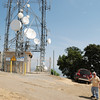 KPFK transmit STL dish is on the left, KKGO receive STL dish is on the right. Both are 4 ft. Mark dishes.