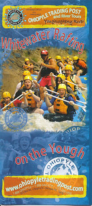 Ohiopyle Trading Post and River Tours 2009 brochure folded ready to mail front detail.