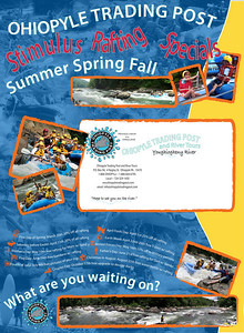 Calendar Mailer I designed for Ohiopyle Trading Post and River Tours.