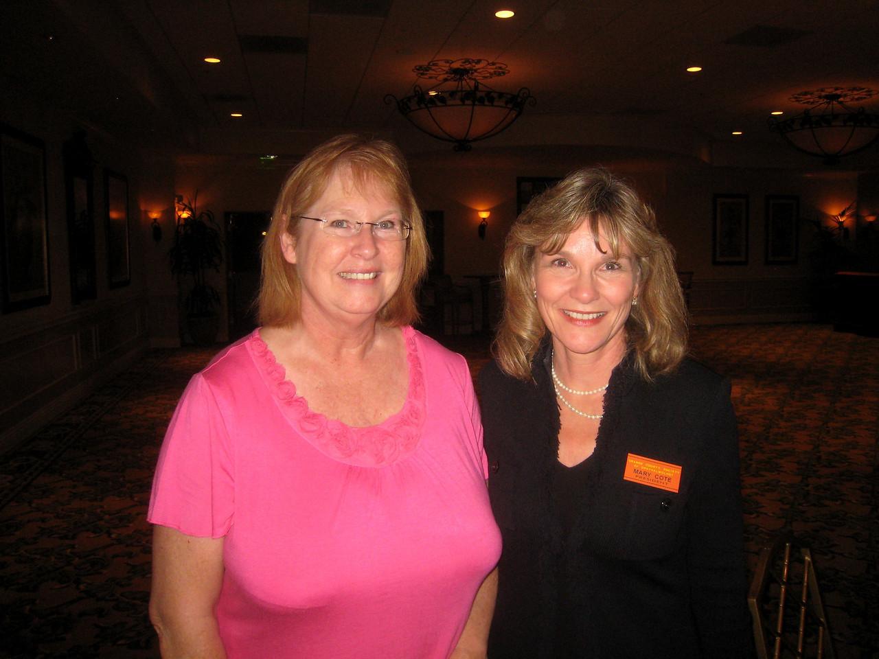 22 Secretary Donna McBride & President Mary Cote