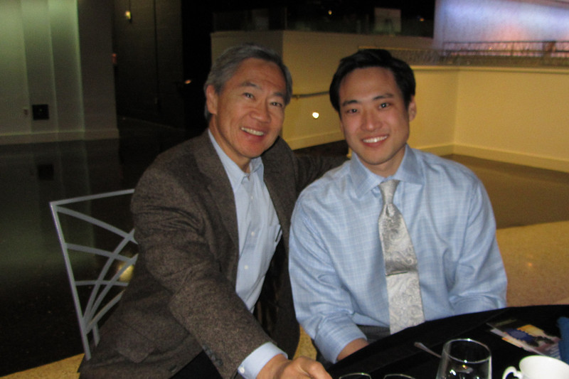 Ed Kim and son Brian, 3rd yr resident UCI