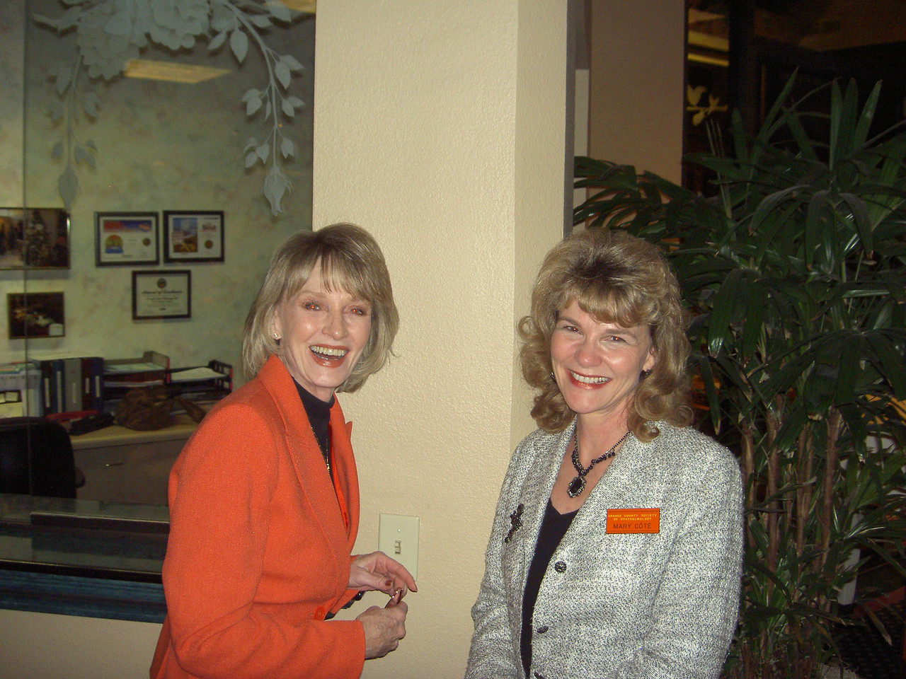 Paula Rogers and Mary Cote