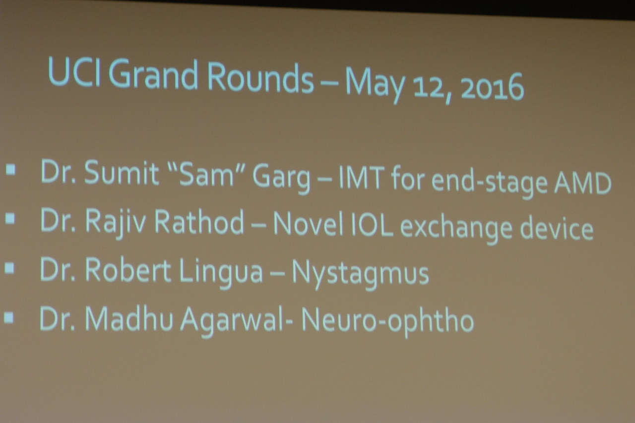 Grand Rounds:  Speakers and their topics