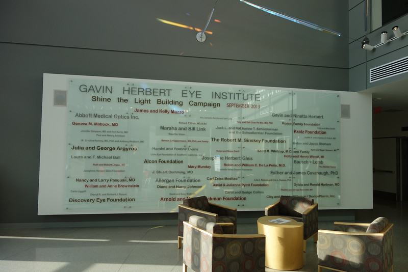 List of major contributors posted in the lobby