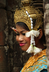 model in Ankor Wat, Cambodia