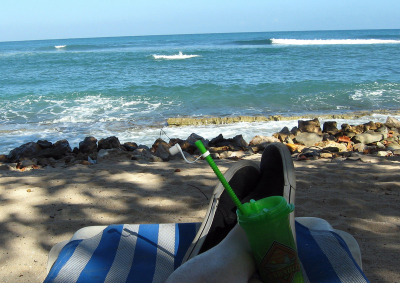 My feet-relaxing on Labadee