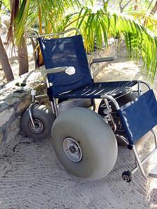 A big-wheel wheelchair on Labadee