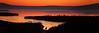 sunset silhouette 12x36