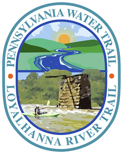 Second Draft, Loyalhanna Water Trail Map Logo Working out compositional elements and concept with client. I favor overlapping elements in logo design.
