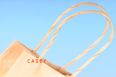 old fashioned paper sack with handle