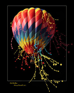 This is just your normal hot air balloon taken in New Mexico. Just a bit to hot so it's dripping color :)