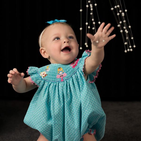 150716 Hannah in blue dress watching pearls 4