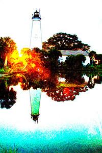 St Marks Lighthouse, Photoshop effects