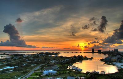 HDR sunrise at Pensacola Beach